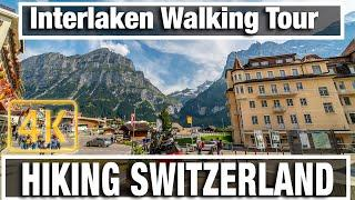 4K City Walks: Interlaken Switzerland Morning Walk  - Virtual Walk Walking Treadmill Video
