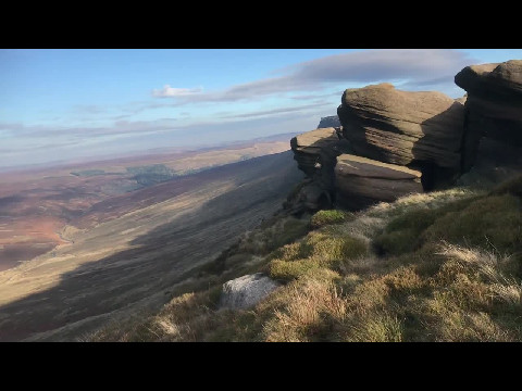 Kinder Scout trail in the Peak District