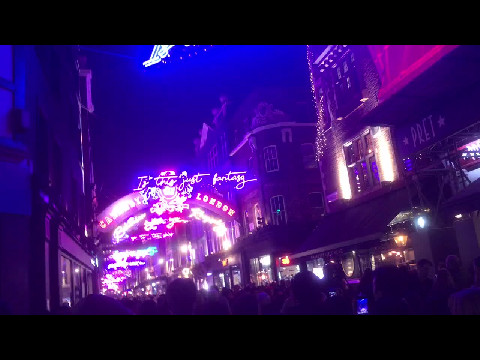 Christmas Lights on Carnaby St, London