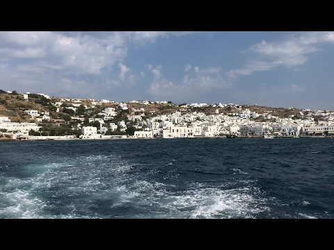 Mykonos from the sea