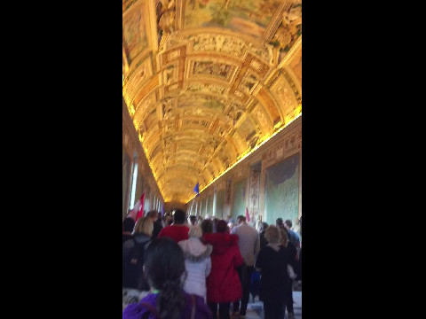 Walking to the Sistine Chapple at The Vatican