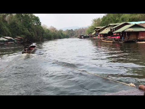 Riverboat Houses in Kanchanburi Province, Thailand